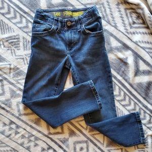 Adjustable waist jeans